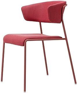 DXX-HR Sillas de Comedor Tiempo Libre Mobiliario de Cocina Moderna Sillas de Comedor Living Room Chair Cojines de los Asientos for Disfrutar el té for Promover Restaurante Salón (Color: Rojo, Tamaño: