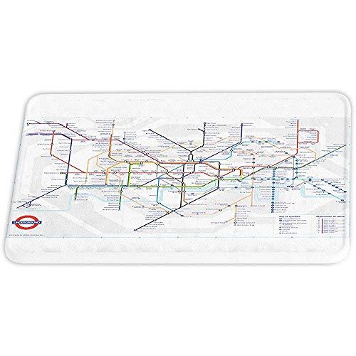 ASDAH stad metro rit kaart van Londen bad tapijten niet slippen douche mat voor badkamer deur tapijt met rubber achterkant vloerkleed en geel