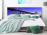 Cabecero Cama PVC Puente de Brooklyn 135x60cm | Disponible en Varias Medidas | Cabecero Ligero, Elegante, Resistente y Económico