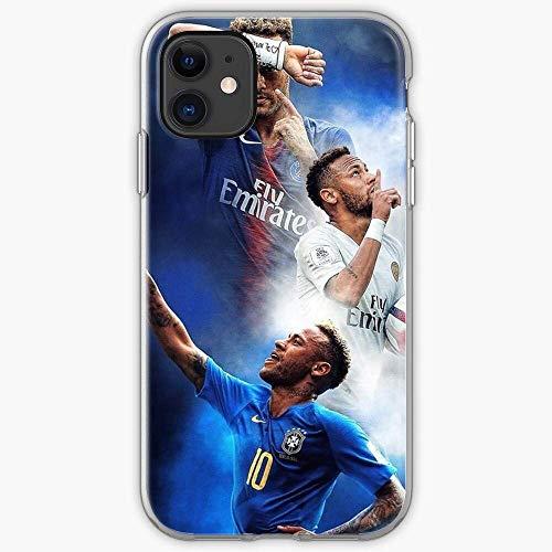 Roadiress Jr Design PSG Neymar Brazil Compatible con iPhone 12/12Pro MAX 12 Mini 11 Pro MAX XR XS/XsMax SE 2020 7 8 6/6s Plus Huawei Samsung Series Funda Protectora