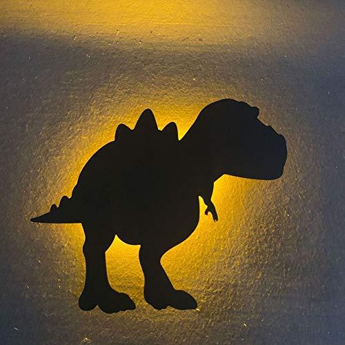 YYQX Lámpara de mesilla de noche, lámpara de dormitorio minimalista, lámpara de mesilla de noche LED moderna, adecuada para hombres, mujeres, adolescentes, niños, niñosDinosaurio 223x19x4cm