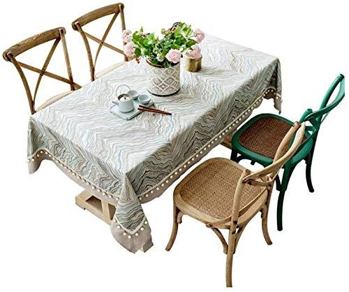 XQLSRJ Elegante y Lujoso Mantel - Simple Moderno de la Sala de Estar de la Mesa de la Mesa de algodón Rectangular Lino de la Mesa de café Mantel de Polvo - Multi-tamaño Opcional