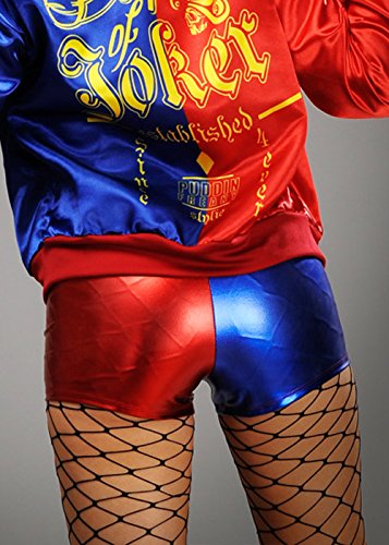Harley Quinn Style Rote und Blaue Shorts S (UK 8-10)