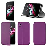 Etui luxe Alcatel Onetouch IDOL 3 5.5 pouces violet Slim Cuir Style avec stand -...