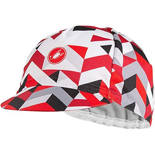 castelli Prisma 2 Cap, Damenhut Einheitsgröße Weiß/Rot