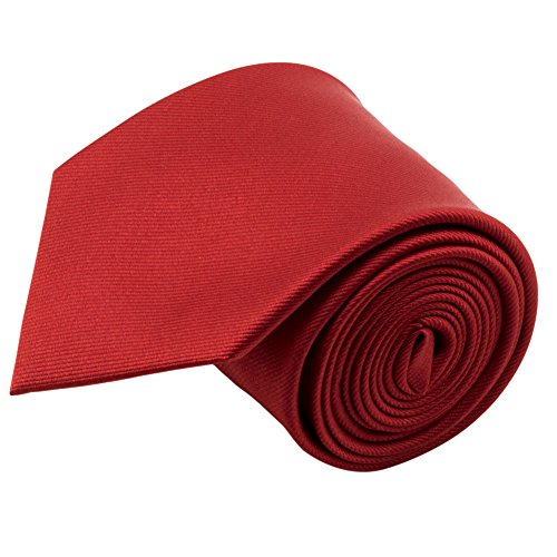 100% Silk Handmade Red Ties For Men Solid Color Neckties for Mens Tie Men's Necktie by John William - http://coolthings.us