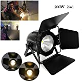 2 in 1 COB LED YUNRUX Audience Scheinwerfer Bühnenbeleuchtung 200W Bühnen Lampe Lichteffekt DMX Strahler Discolicht DJ Strobe Light Led Lampe PAR für DJ Disco Stage Party Weiß Warmweiß