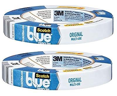 ScotchBlue Painter's Tape, Multi-Use, 0.70-Inch x 60-Yard.(2-Pack)