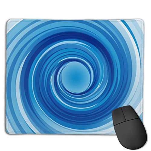 Gaming Mouse Matte, Vortex Blue Print Gaming Mouse Matte Genähte Kante Büro Dicker Mauspad
