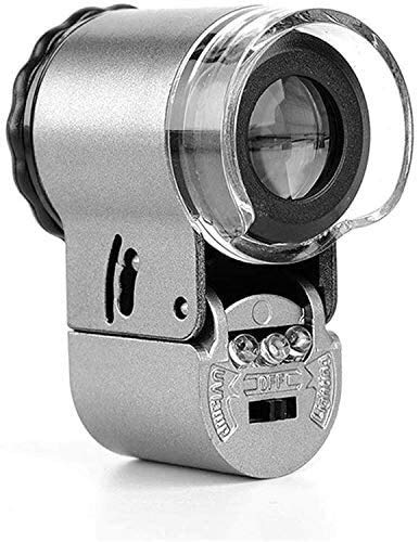 50 Times HighDefinition Vergrootglas met LED Light Portable, Mini Microscoop Jewelry Identificatie