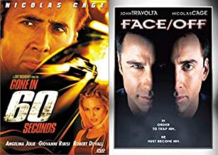 Facing & Racing! Nic Cage Rage - Gone In 60 Seconds & Face/ Off 2-DVD Collection