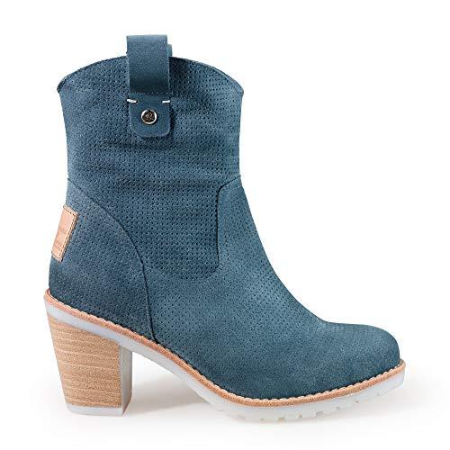 PANAMA JACK Botas de Mujer Carnaby B3 Velour Blue Jeans 38 EU