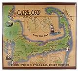 Med's Maps Cape Cod Jigsaw Puzzle - Vintage Cape Cod Map - 1000 PC
