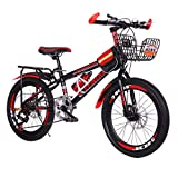 WEI MOLO@ Folding Bike 22 Inch Mini Small Bicycle Adult Students Ultra-Light Portable Riding Mountain Cycling for Go Working Red