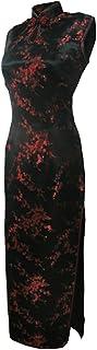 فستان شيونغسام صيني طويل ضيق باللون الأسود/الأسود من 7Fairy
