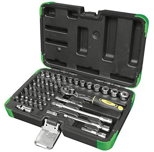 Jbm 53101 Estuche de herramientas con 56 piezas con vasos hexagonales, 0 V