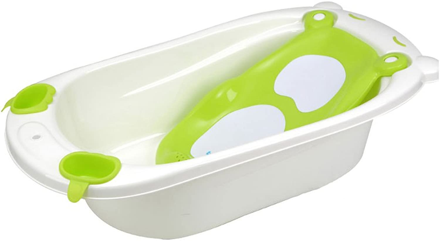 Bathtub Non-slip Portable, Reclining Tub Household Plastic Multi-function 0-4 Years Old Baby Comfortable And Durable Material Safety Stable And Not Deformed (color   GREEN)