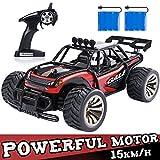SGILE RC Voiture Télécommandée - 1:16 avec Deux Batteries Rechargeable, Dérive, 12-15km/h Monstre Voiture à Vitesse Variable, 2.4 Ghz Racing Camion Véhicule - Jouet Cadeau pour Enfant (Rouge)