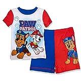 Paw Patrol Boy's 2 Piece Pajama Set,Red,100% Cotton,Toddler Boy's Size 2T