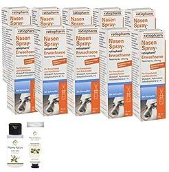 Nasenspray Ratiopharm 10 x 15 ml Sparset und einer Handcreme o. Duschbad der Marke Pharma Nature