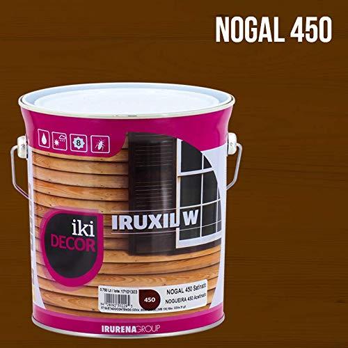 Lasur Protector de madera al agua Satinado Iruxil W Iki Decor - 4 L, Nogal