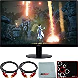 Acer SB270 Bbix 27 inch Full HD Zero Frame Monitor with Radeon Freesync Technology Bundle with Deco Gear HDMI Cable 2 Pack + Gamer Surface Mousepad + Screen Cloth