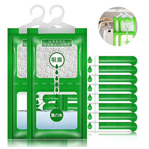 Creativee - Paquete de 8bolsas deshumidificadoras para guardarropa, bolsas antihumedad para colgar en armarios, cocinas y baños