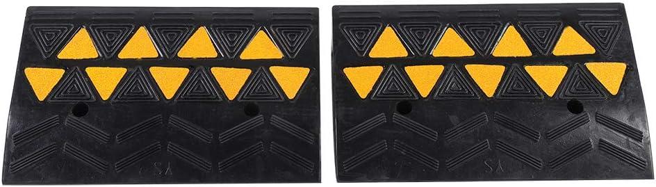 Rubber Ramp 2pcs Heavy Duty Tulsa Mall Limited price Curb Thre Portable Anti-Slip