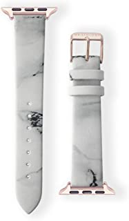 WRISTOLOGY Apple Leather Watch Band for Rose Gold - fits 38 or 40 mm