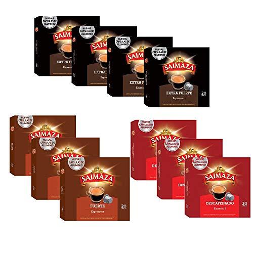 Saimaza Espresso Koffiepods Variatiepakket - Nespresso®* Compatible Aluminium Coffee Capsule - 10 Verpakkingen (200 Koffiecups)