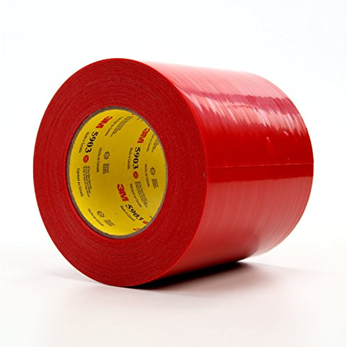 3M 07591-case Outdoor Maskingpoly Tape, 5 in x 60 yd 7.5 mil, 5903, Polyethylene, Red (Pack of 8)