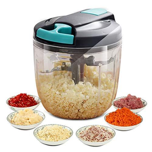 QoFina 2 in1 shredder, food chopper Manual chopper, fruit and vegetable cutter, manual shredder for nuts, vegetables, herbs, garlic, multi-shredder