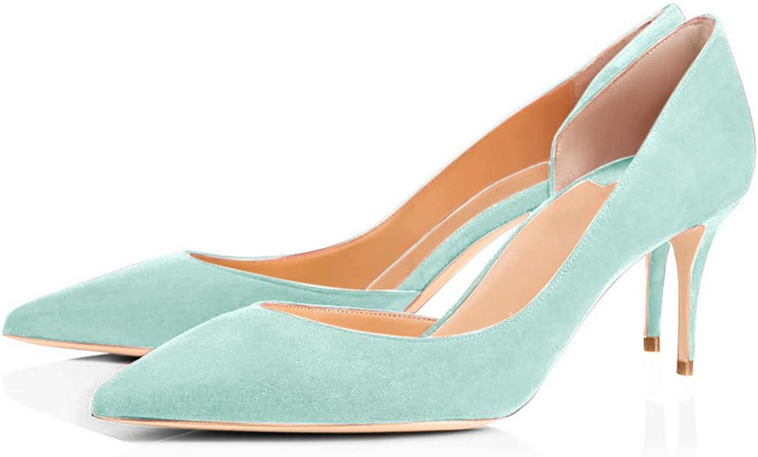 UMEXI Pointed Toe Kittent Heel D-Orsay Sandals Fashion Pumps Wedding Dress shoes for Women
