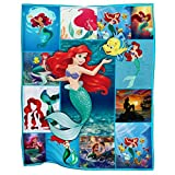 Awesome Shirt Gift MD21 Ariel Mermaid Cozy Fleece Blanket Extra Large Size 60x80 INCH
