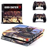 TSWEET Game God Eater 3 Ps4 Skin Sticker Decal for Playstation 4 Console and 2 Controllers Ps4 Skins Sticker Vinyl