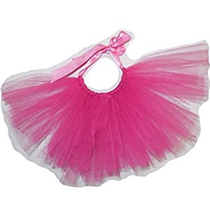 Pawpatu Handcrafted in USA Hotpink Tulle Tutu for Dogs