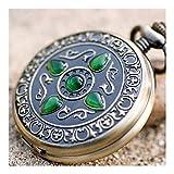 Reloj de bolsillo elegante clásico.Reloj de bolsillo antiguo, Vintage Magic Industrial Lucky Stone Mecánico Mecánico Reloj de bolsillo, Hombres y mujeres de piedra de Gato Hombres y mujeres Reloj colg