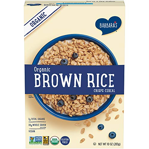 Barbara's Bakery Organic Brown Rice Crisps Cereal, Gluten Free, Vegan, 10 Ounce