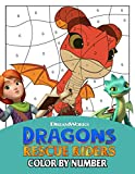 Dragons Rescue Riders Color By Number: Stimulate The Illustrations In The World Of Fantasy For Kids...