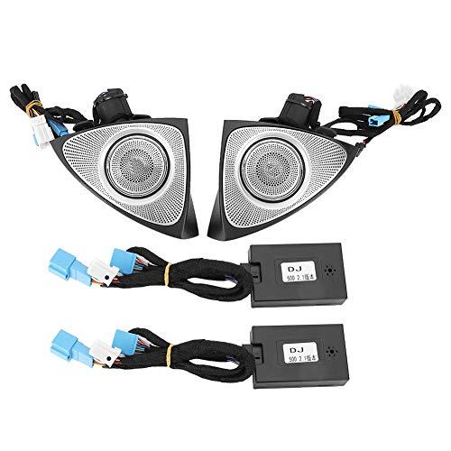 Auto Hochtonlautsprecher,Fydun 3D Hochtöner für Fahrzeuge mit atmosphärischer Lampe Passend für C/GLC(Verlauf 64 Farben)