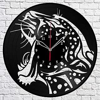 Cheetah Guepard Vinyl Record Wall Clock Fan Design Art Decor Original Gift Unique Decorative Vinyl Clock 12