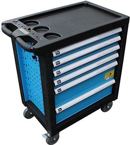 XXL Edition | Werkzeugwagen – Werkstattwagen – 6 Schubladen gefüllt mit Werkzeug | Bit Sets, Ratschen, Nüsse und vieles mehr… - 2