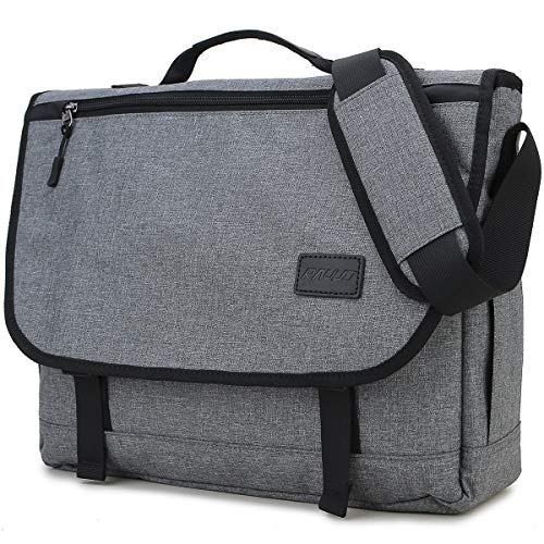 Messenger Bag for Men,RAVUO Water Resistant Lightweight Satchel 15.6 Inch Laptop Shoulder Bag Croossbody Bag Business Briefcase Grey
