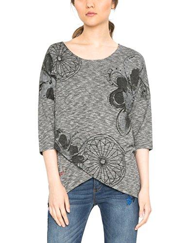Desigual TS_Olivia Camiseta, Gris (Gris Vigore Claro 2042), Large para Mujer