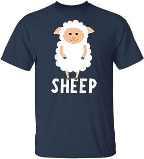LeetGroupAU Kids Sheep for Boys Or Girls Cute Sheep Gift T-Shirt