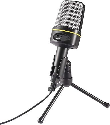 AOZBZ Microfono PC con Mini Supporto Treppiede Microfono Professionale a condensatore per Registrazione Audio per PC Laptop Mac Smartphone - Confronta prezzi