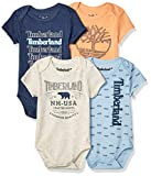 Timberland Baby Boys 4 Pieces Pack Bodysuits, Navy/Blue/Oatmeal, 6-9 Months