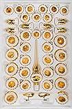 '39piezas Cristal Juego de bolas de navidad en 'brillante vintage Oro–Bolas de...
