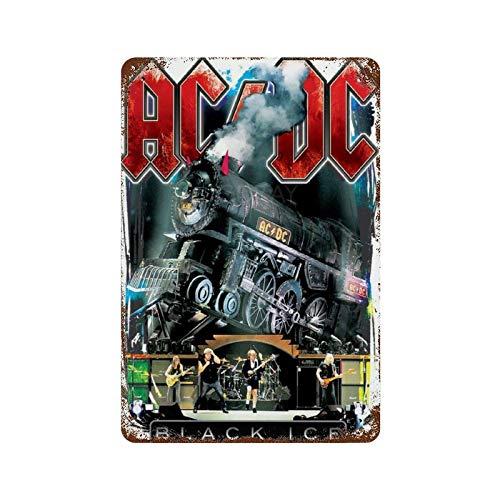 GDRAY ACDC Black Ice Vintage Blechschild Metallschild Werbeplakat Geschenk für M?nnerh?hlen Cafe Bar Pub Bier Wanddekoration Kunst