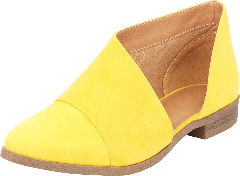 Cambridge Select Women's Pointed Toe Open Shank Low Heel Shootie Ankle Bootie